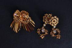 22k Old Mine Cut Pendant Earrings Chinese Indian Diamond Pendant, Gold Pendant, Pendant Earrings, Diamond Earrings, Gold Sheets, Traditional Earrings, Rose Cut Diamond, Vintage Diamond, Modern Jewelry
