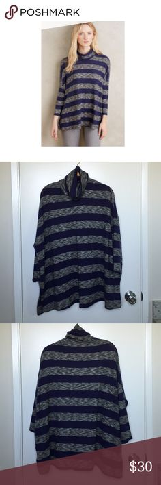 """Anthropologie """"Mila"""" Super Soft Turtleneck SO SOFT!!!  Beautiful fit, drapes just right.  Only selling because I have more than one.  NWOT, tried on but never worn.  New condition.  3/4 length sleeves, Dolman sleeves, loose, flowy fit.  Feel free to comment with any questions--thanks for looking! ❤️ Anthropologie Sweaters Cowl & Turtlenecks"""