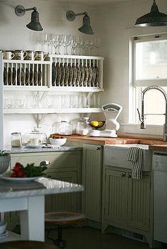 plate racks~love this kitchen