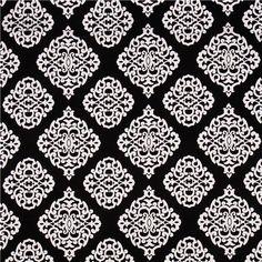 black Sultana Michael Miller ornament fabric