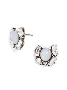 Opal Malisandre Studs| I love how this pair has a touch of opal! #baublebar #swatstyle #earrings #studs
