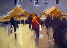 Tony Allain     'MARKET DAY' pastel on sanded paper 8 x 10