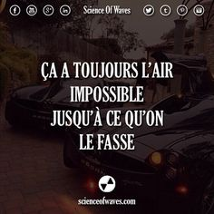 Ça a toujours l'air impossible, jusqu'à ce qu'on le fasse. - Tap the link now to Learn how I made it to 1 million in sales in 5 months with e-commerce! I'll give you the 3 advertising phases I did to make it Coaching, Motivational Quotes, Inspirational Quotes, Sport Motivation, Fitness Quotes, Just Do It, Happy Life, Affirmations, Waves
