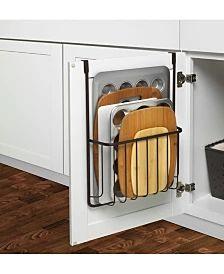 Spectrum Ashley Cabinet Wall Mount Cutting Board Bakeware Holder - Chrome