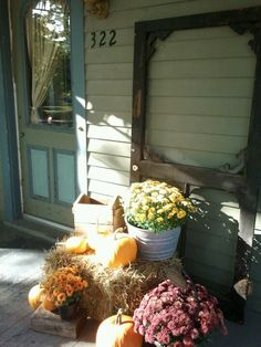 My front porch fall display