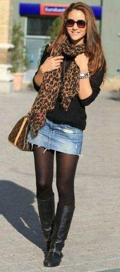 outfit casual con falda de mezclilla Faldas De Mezclilla 22c0148fe746