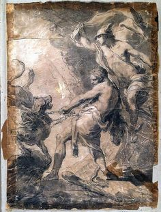 Gaetano Gandolfi painting, Mythological Sketch