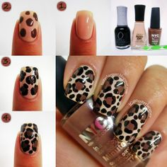 Leopard print pictorial! And I have to get the NYC color! I always use my brown striper when I do this design but the NYC color is perfect!