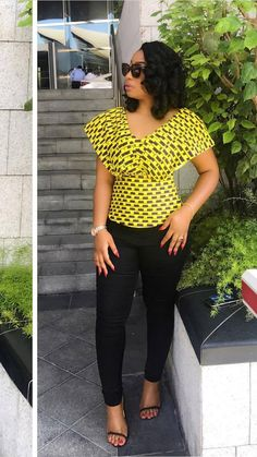 Trending Ankara Tops at the Moment - New Ideas African American Fashion, African Inspired Fashion, Latest African Fashion Dresses, African Dresses For Women, African Print Dresses, African Print Fashion, African Attire, African Wear, African Women