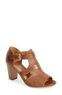 Free shipping and returns on Naturalizer 'Draft' Sandal at Nordstrom.com. Signature N5 construction delivers day-long comfort in a breezy, perforated shield sandal set on a chunky stacked heel.