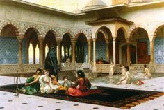 - The Harem on the Terrac . Jean-León Gérôme ./tcc/