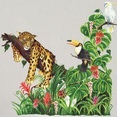Spot the Leopard Jungle Mural