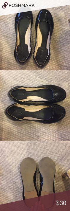 Nine West Patten Leather Ballet Flats Nine West Boutique 9 black patten leather flats. Size 10. Never worn. Perfect condition. Boutique 9 Shoes Flats & Loafers