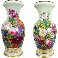 tall huge Exquisite Old Paris Porcelain French hand-painted flowers Vase/ Lamp ~ Museum Quality painting~ Flower Vases, Flower Art, Art Flowers, Old Paris, Porcelain Vase, Vases Decor, Pottery, Hand Painted, Painting