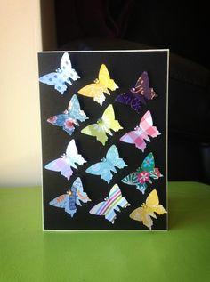 Butterfly punch card by Bethany Looijenga