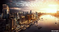 Shanghai Riverfront   China - 3D, Architectural Visualisation, Meshroom