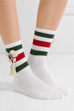 8a177eaba0559 Gucci - Little William embellished ribbed cotton-blend socks