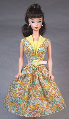 Lemon Sherbert Vintage Barbie Doll Dress Barbie Clothes Fashion with Zipper | eBay