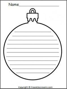 Free Christmas Ornament Writing Template