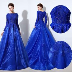 Prepare the cheap cute prom dresses for the upcoming prom? Then you need to see royal blue long sleeves luxury prom party gowns bateau back zipper crystals beading lace and organza evening occasion dresses lx045 in wheretoget and other cheap modest prom dresses and cheap plus size prom dresses under 100 on DHgate.com. Prom Dresses Under 100, Cheap Party Dresses, Cute Prom Dresses, Prom Dresses 2017, Plus Size Prom Dresses, Party Gowns, Ball Dresses, Wedding Dresses, Royal Blue Evening Gown