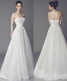 Tony Ward Wedding Dresses 2015 Collection. This dress with a lace top overlay would be gorgeous