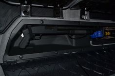 Cheap mod: Double cab under-seat long gun storage - Tacoma World Forums Weapon Storage, Gun Storage, Vehicle Storage, Jeep Truck, 4x4 Trucks, Toyota Tundra, Toyota Tacoma, Tacoma World, Future Trucks