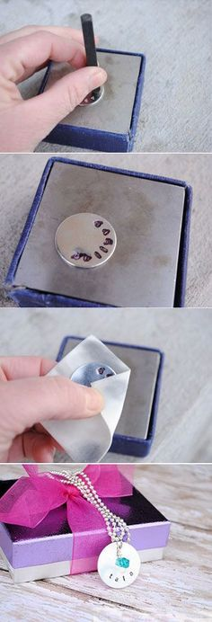 22 DIY Mothers Day Gift Ideas   How to Hand Stamp Jewelry For A Personalized Touch   Homemade Mothers Day Gifts from Kids