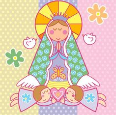 Browse Virgencita pictures, photos, images, GIFs, and videos on Photobucket Baptism Cookies, Art Lessons For Kids, Blessed Virgin Mary, Mother Mary, First Communion, Kirchen, Animated Gif, Decoupage, Clip Art