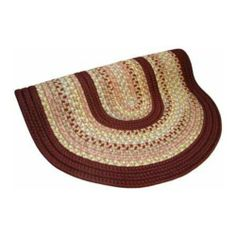Thorndike Mills Pioneer Valley II Braided Rug - Buckskin and Burgundy Solid Size - 2.3 x 4 ft. by Thorndike Mills. $97.00. Vacuum and professionally dry-clean. 60% polypropylene, 40% acrylic. Variegated yarn-braid rug in neutral tones with burgundy. Reversible. Braided yarn construction covers a fiber core. Burgundy bands dominate, and variegated neutrals are the perfect complement in the Thorndike Mills Pioneer Valley II Braided Rug collection in Buckskin and Burg...