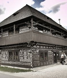 Traditional Folklore House-Čičmany-Slovakia Heart Of Europe, Online Image Editor, Online Images, Traditional, Building, House, Beautiful, Stars, Design