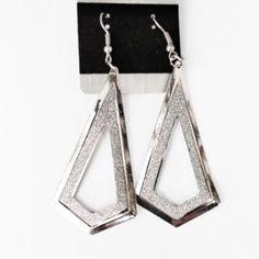 Βραδινά σκουλαρίκια ασημί χρώμα 428073 Drop Earrings, Jewelry, Jewlery, Bijoux, Jewerly, Jewelery, Dangle Earrings, Drop Earring, Jewels