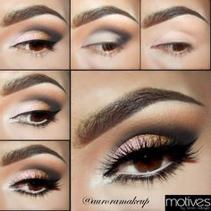 Learn how to create a natural smokey eye makeup look Motives