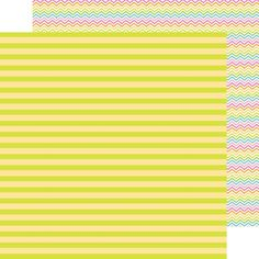 Item:5089 lemon lime double-sided cardstock