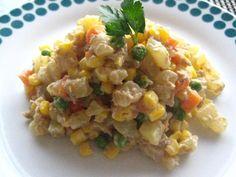 Ensalada de Gallina Seafood Diet, Risotto, Potato Salad, Potatoes, Yummy Food, Cooking, Healthy, Ethnic Recipes, Snap Peas