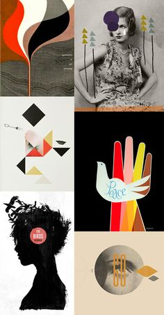 {1.booklet cover 2. ma-chr 3. stillebenshop 4. simbolidesign 5. ffffound 6. via } Welcome back to the 60's, 70's and 80's, that is the feeling I got while looking at this gorgeous and fun design and poster art board. With...
