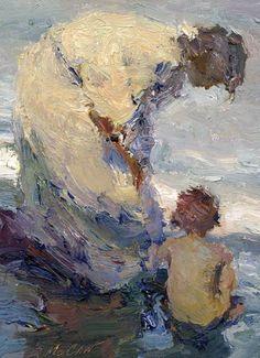 One of my favorite artists - Dan McCaw  http://www.southwestart.com/wp-content/uploads/2011/03/Dan-MCCAW-Watchful-Eye-12x9-Oil.jpg