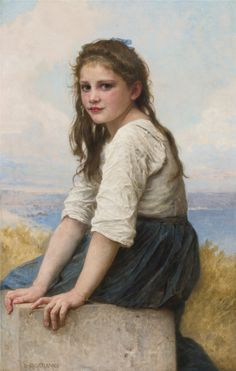 "William Bouguereau  - ""Au bord de la mer"""