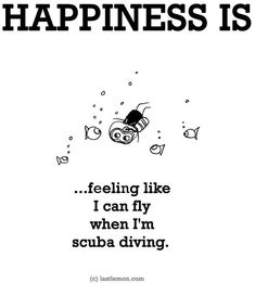 Happiness is.. Feeling like I can fly when I'm scuba diving. <3