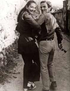 pier paolo pasolini and maria callas (napoli, september 1970)