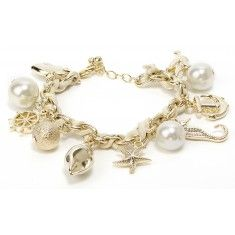 Gold-Hued Nautical Charm Bracelet