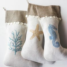 3 new stockings to add to the beach house this year!  So excited!!
