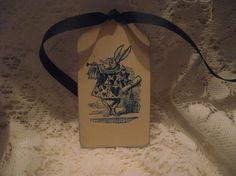 Gift Tag Peter Rabbit  Blue Tag Hang Tag Vintage  by ShoppeLaFluer, $5.50