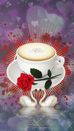 Good Morning My Love, Good Morning Flowers, Good Morning Wishes, Good Morning Images, Coffee Gif, Coffee Images, Coeur Gif, Emoji Love, Background Hd Wallpaper