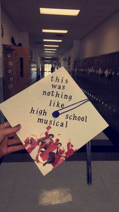High School Musical Graduation Cap Graduation Day, Disney Graduation Cap, Funny Graduation Caps, Senior Quotes High School Graduation, Graduation Cap Designs, High School Graduation Picture Ideas, Graduation Cap Pictures, High School Pictures, Senior Year Pictures