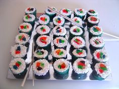Californian Rolls (cup cake style)