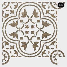 Painting Tile Floors, Painted Floors, Stencil Painting, Tile Stencils, Stencil Designs, Large Wall Stencil, Star Stencil, Stenciled Concrete Floor, Concrete Patio