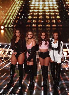 Coleen Nolan defends Little Mix's X Factor 'stripper' costumes Cheerleader: Little Mix were accused of 'dressing like strippers' on The X Factor on Sunday, but they have one supporter – Jesy Nelson's future mother-in-law Coleen Nolan … Jesy Nelson, Perrie Edwards, Dvb Dresden, Stage Outfits, Fashion Outfits, Concert Outfits, Festival Outfits, Sexy Outfits, Little Mix Outfits