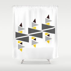 Buy Shower Curtains featuring Triangle-d by Mindssgreen. Made from easy care polyester our designer shower curtains are printed in the USA and feature a 12 button-hole top for simple hanging. Button Hole, Shower Curtains, Cosy, Triangle, Printed, Simple, Stuff To Buy, Prints