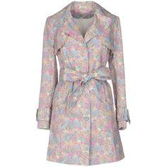 Manoush Full-length Jacket (26.815 RUB) ❤ liked on Polyvore featuring outerwear, jackets, sand, long sleeve jacket, cotton jacket, single breasted jacket, multi pocket jacket and full length jacket