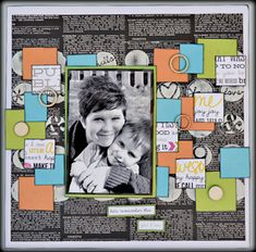 My Creative Scrapbook July Creative kit created by Lynn Schaffer.